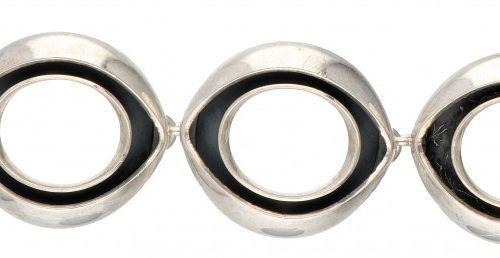 Silver Alton modernist bracelet 925/1000. Poinçons : Alton, marque de ville Falk…