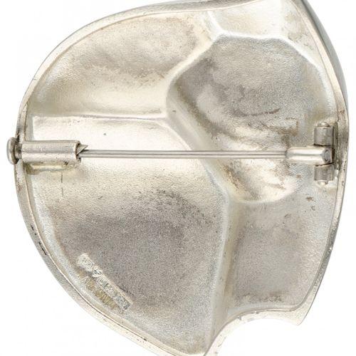 Björn Weckström for Lapponia modernist silver 'Labyrinth' brooch 925/1000. 印记:92…