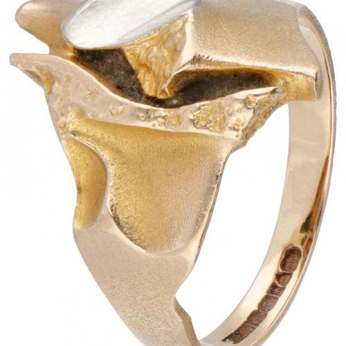 Björn Weckström for Lapponia 14K. Yellow gold 'Geisir / Geysir' ring combined wi…