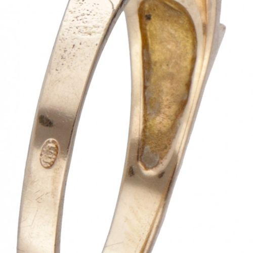 Björn Weckström for Lapponia 14K. Yellow gold 'Small Word' ring set with cultiva…