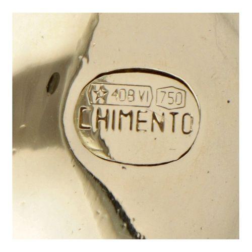 18K. Yellow gold Chimento Italian design elephant pendant. Poinçons : * 408 VI, …