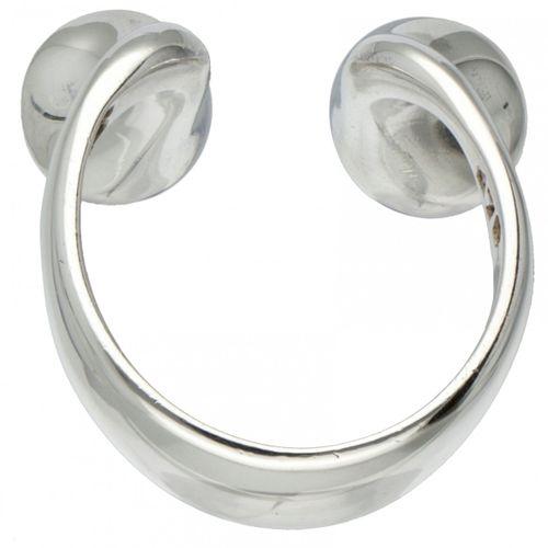Bent Gabrielsen for Georg Jensen no.179 silver modernist ring set with amethyst …