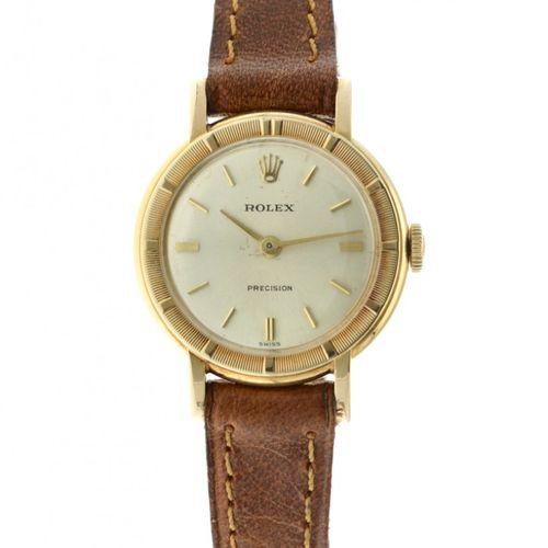 Rolex Precision 2608 Ladies watch apprx. 1969. Boîtier : or jaune (18 kt.) brace…
