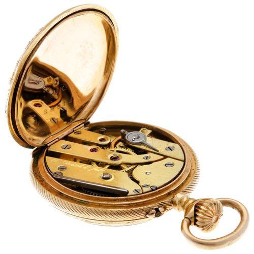 Coultre & Co Cylinder Escapement Ladies Pocket Watch apprx. 1898. Boîtier : or j…