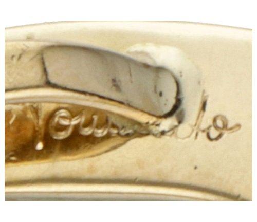 18K. Yellow gold Pomellato pendant in the shape of a horseshoe. Poinçons : Pomel…