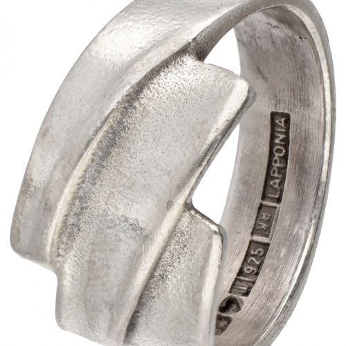 Zoltan Popovits for Lapponia silver 'Electra' ring 925/1000. Poinçons : 925, mar…