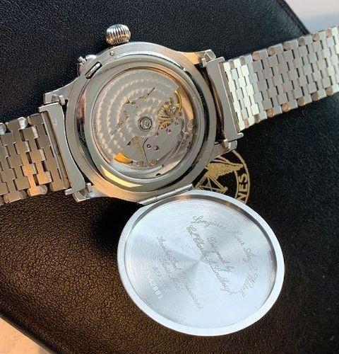 Longines Lindbergh Hour Angle 989 5215 Men's Watch 1991. 表壳: 钢 表带: 钢 自动机芯 3个额外的链…