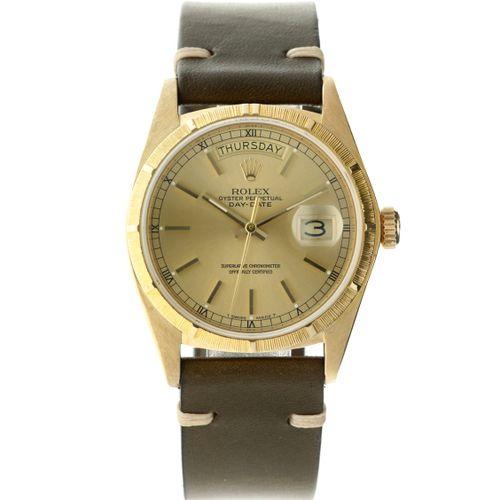 Rolex Day Date 18038 Men's watch apprx. 1978. Boîtier : or jaune (18 kt.) bracel…