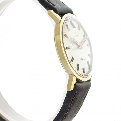 Zenith Vintage Men's watch ca. 1960. Boîtier : plaqué or bracelet : cuir remonta…