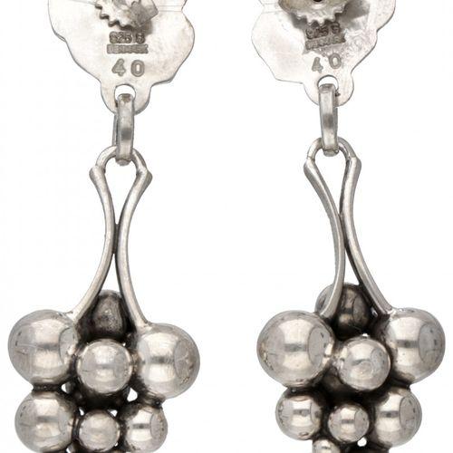 Harald Nielsen for Georg Jensen no.40 silver 'Moonlight Grapes' earrings 925/100…