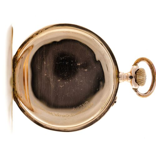IWC Lever Escapement Men's pocket watch apprx. 1910. 表壳:黄色(14K) 手动上链 状态:良好 直径:49…
