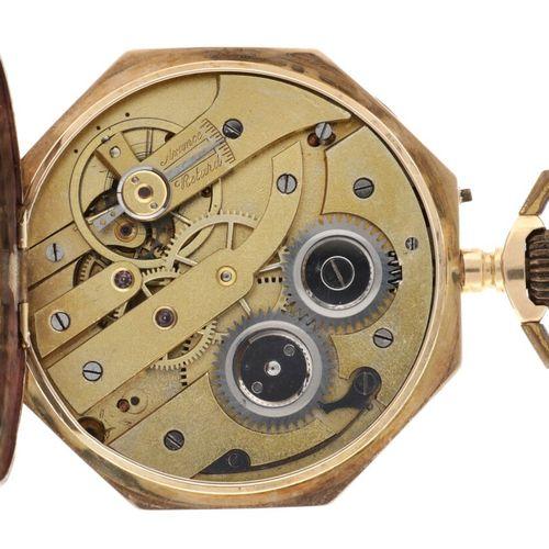 14 kt. Cylinder escapement Men's Pocket Watch appr. 1920. 表壳:黄金(14K) 手动上链 状态:尚可 …
