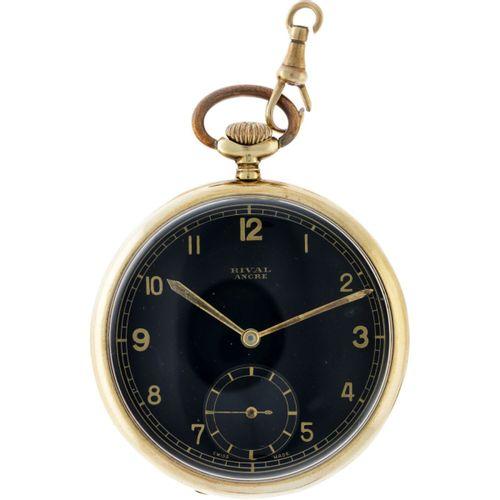Rival lever escapement Men's Watch appr. 1920. Boîtier : or jaune (14 kt.) remon…