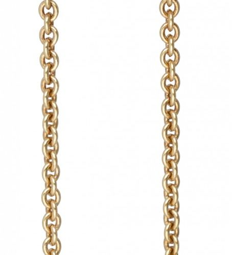 18K. Bicolor gold Marco Bicego 'Siviglia Chain Drop' earrings set with approx. 0…