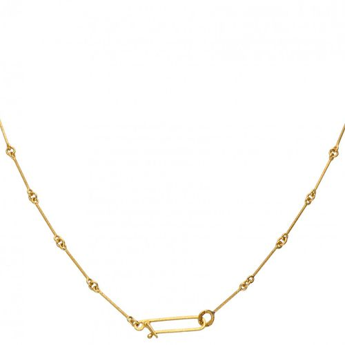 Björn Weckström for Lapponia 14K. Yellow gold 'Cheek to Cheek' necklace set with…