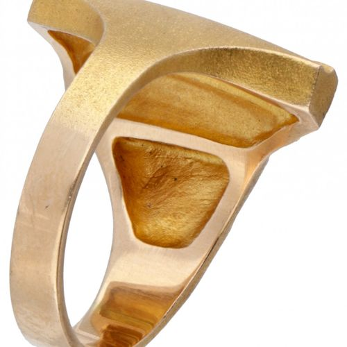 Björn Weckström for Lapponia 14K. Yellow gold 'Lines in the Water' ring combined…