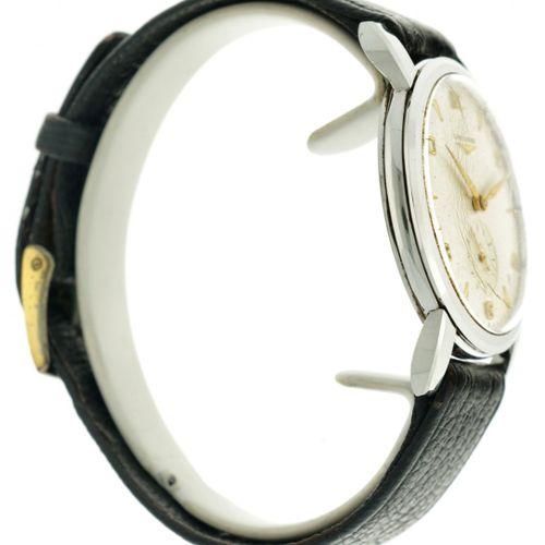 Longines Vintage 6445 1 Men's watch apprx. 1950. 表壳: 钢 表带: 皮革 手动上链 包装盒和说明书 状态: 良…