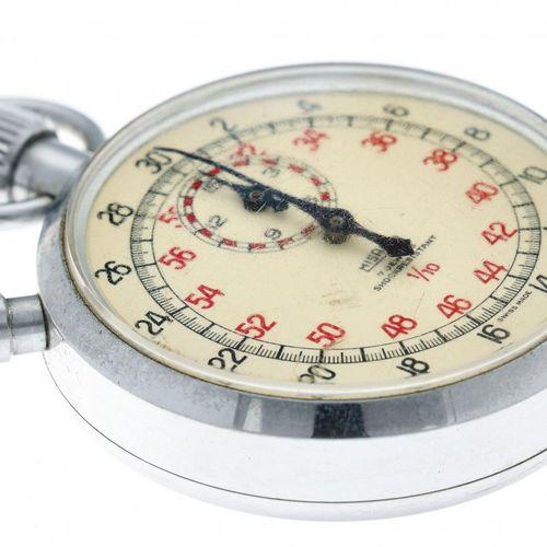 Misalla stopwatch pocket watch appr. 1950. Boîtier : acier remontage manuel état…