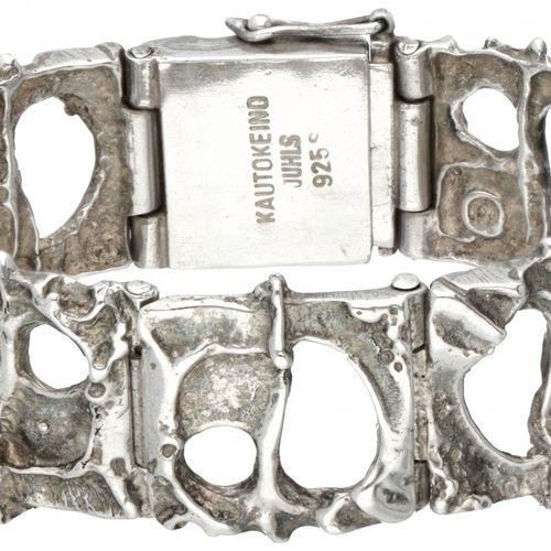Juhls Kautokeino no.752 silver 'Tundra' bracelet 925/1000. Poinçons : Kautokeino…