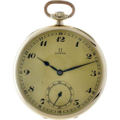 Omega Lever Escapement Men's pocket watch apprx. 1936. Boîtier : or jaune (14 kt…