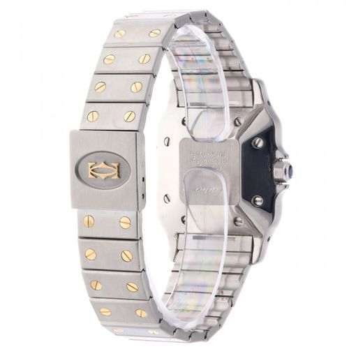 Cartier Santos Men's watch ca. 1995 kast : or/acier bracelet : or/acier automati…