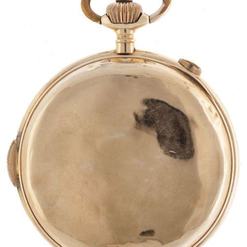 Golden Savonette Chronograph Men's Pocket Watch appr. 1889. Boîtier : or jaune (…
