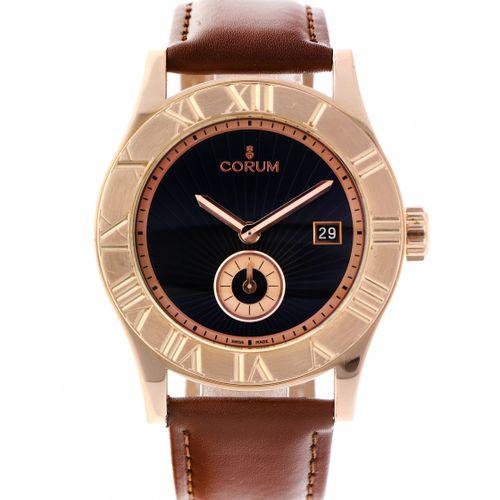 Corum Romvlvs 02.0002 Men's watch apprx. 2014. 表壳: 玫瑰金(18K) 表带: 真皮 自动上链 状态: 非常好 …