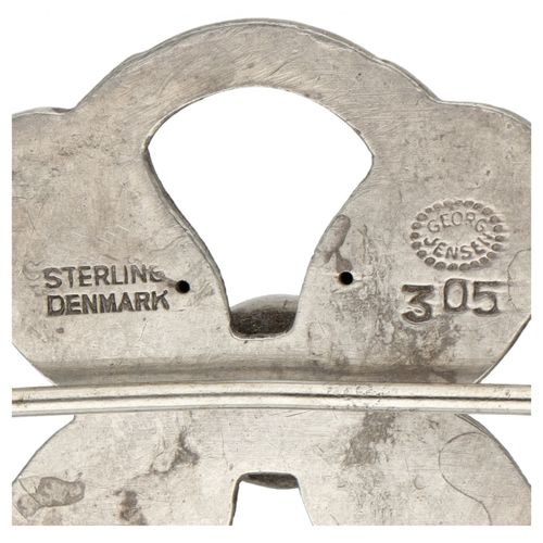 Silver Georg Jensen no.305 vintage 'Tulip' brooch 925/1000. Poinçons : Marque Ge…