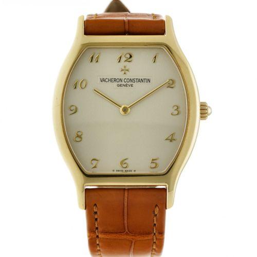 Vacheron & Constantin Tonneau Men's watch apprx. 2000. Boîtier : or jaune (18 kt…