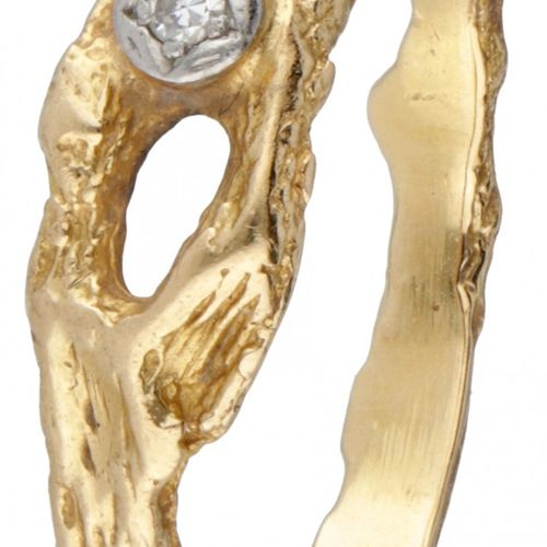 Björn Weckström for Lapponia 18K. Yellow gold 'Diamond Pond' ring set with appro…