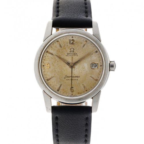 Omega Seamaster Calendar Men's Watch appr. 1956. Boîtier : acier bracelet : cuir…