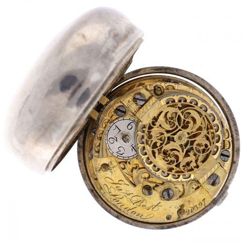 Pocket Watch Verge Fusee 'J. Best, London' ca. 1752 boîtier intérieur : argent 9…