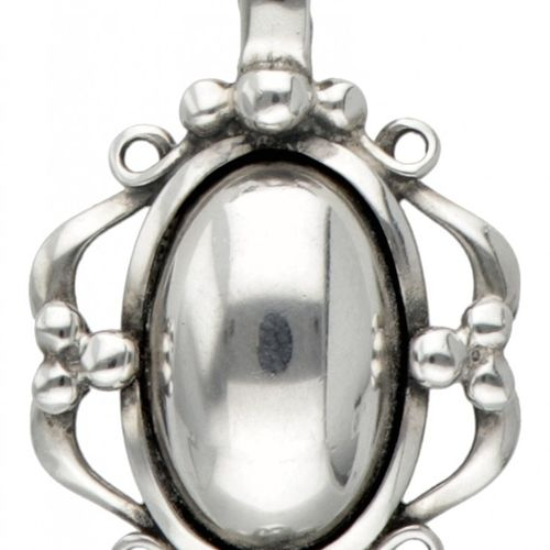 """Silver Georg Jensen necklace with pendant of the year 1989 925/1000. De la """"Heri…"""