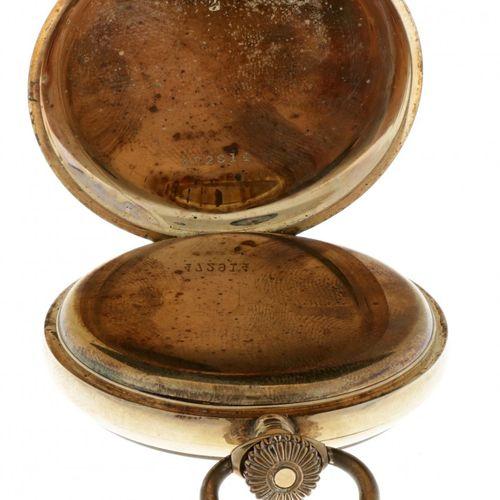 Aramis lever escapement 14 Kt. Gold Men's pocketwatch apprx. 1900. 表壳:黄金(14K) 链条…