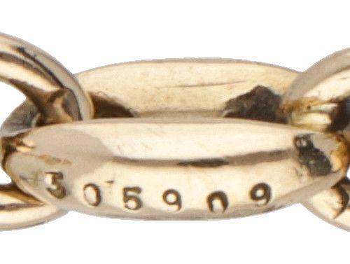 18K. Yellow gold vintage Cartier link bracelet. Poinçons : double C sur la ferme…