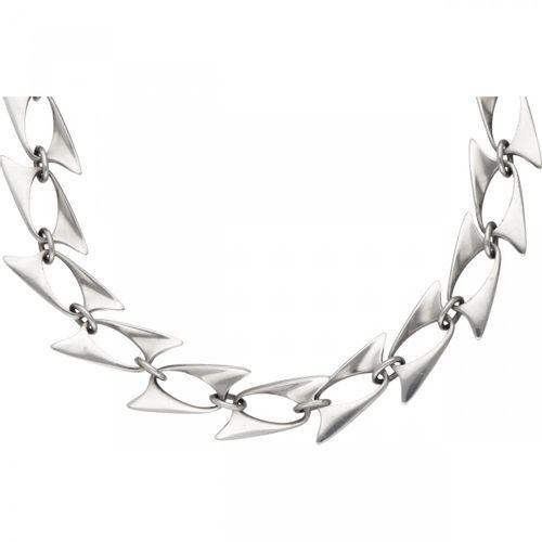 Henning Koppel for Georg Jensen no.273 silver modernist necklace 925/1000. 印记:19…