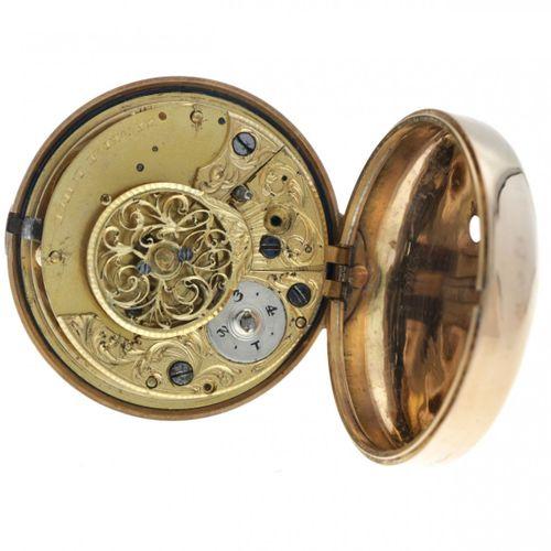 Recordon London snek spillegang Men's Pocket Watch appr. 1850. 表壳:黄金(18K) 手动上链 钥…