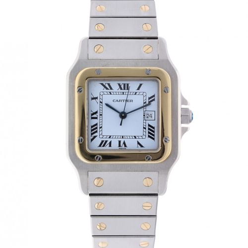Cartier Santos Galbee 1172961 Men's watch ca. 1995 boîtier : or/acier bracelet :…