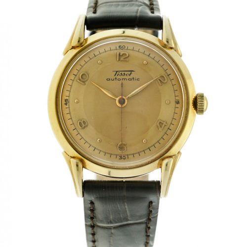 Tissot Bumper Automatic Men's watch apprx. 1950. 表壳: 黄金(18K) 表带: 皮革 自动上链 状态: 良好 …