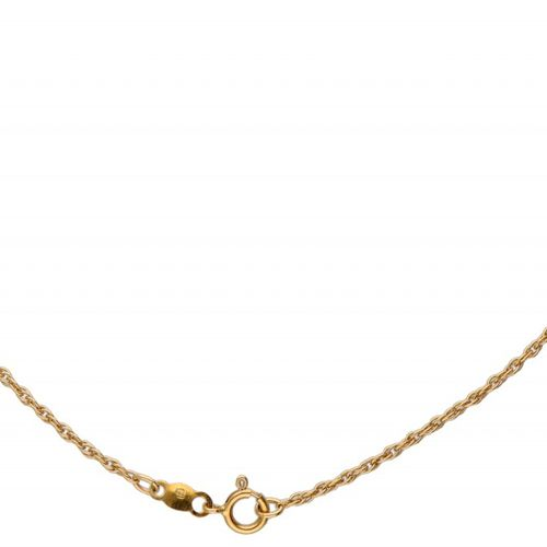 18K. Yellow gold necklace with 'The Sapphire Midnight Cross' pendant from the Ho…