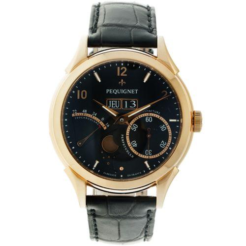 Pequignet Rue Royale 9011548 Men's watch apprx. 2012. Boîtier : or rose (18 kt.)…