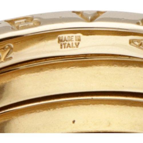 18K. Yellow gold Bvlgari 'B.Zero1' 4 band ring. 印记:52,意大利制造,750,*2337 AL,Bvlgari…