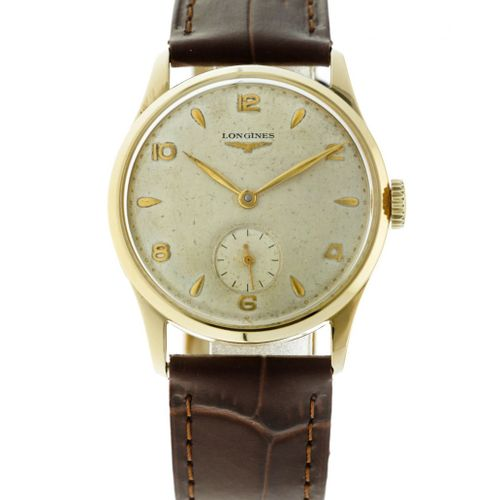 Longines Vintage Men's watch apprx. 1955. 表壳: 黄金(18K) 表带: 皮革 手动上链 最近一次保养: 未知 状态:…