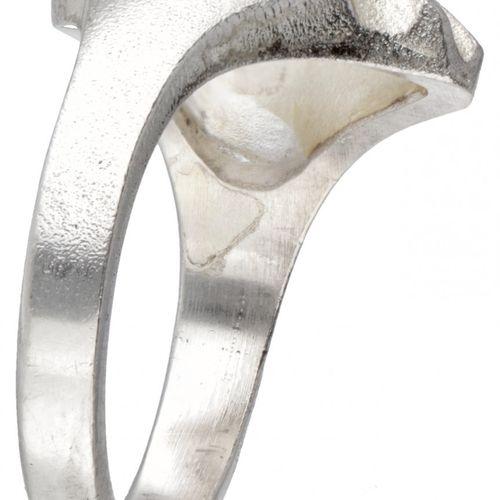 Björn Weckström for Lapponia silver design ring 925/1000. Poinçons : 925, marque…