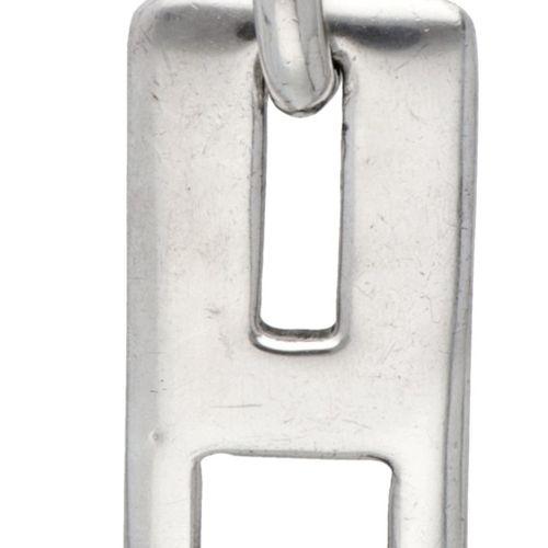 Silver Pianegonda Italian design necklace with pendant 925/1000. Poinçons : Pian…
