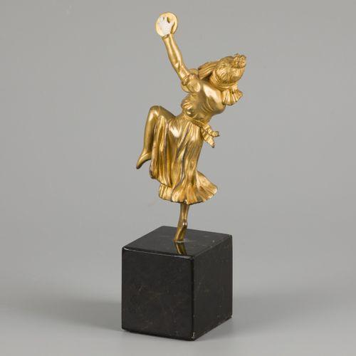 Georges Omerth (1895 1925), A bronze 'chryselephantine' figurine depicting a dan…