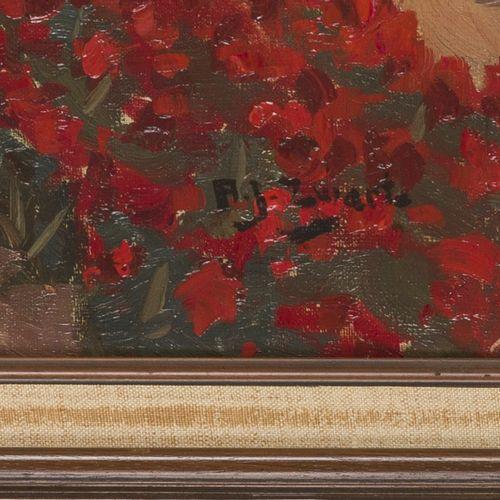 """A.J. """"Arie"""" Zwart (Rijswijk 1903 1981 Laren, NH), Bulb fields. 签名(右下角),布面油画,尺寸。5…"""