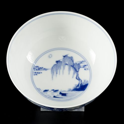 """A porcelain bowl with decor of the """"Romance of the Western chamber"""", marked Xuan…"""