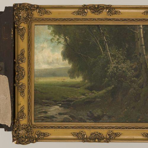 Hippolyte van Soom (1856 1922), Environs de Bruxelles. 签名(右下),布面油画。Dim.40 x 50厘米…