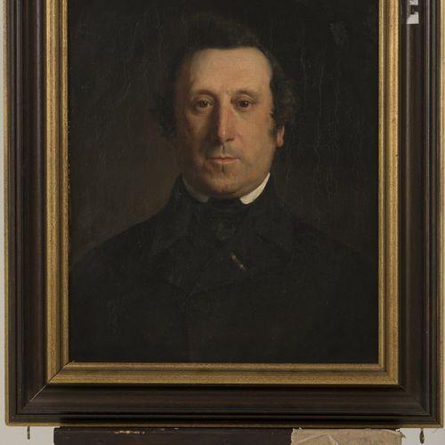 Gijsbert op ten Nones (Arnhem 1821 1870 Arnhem), Portrait of a gentleman. Signé …